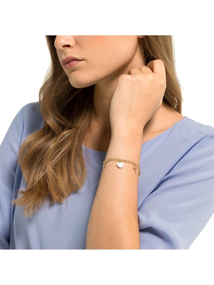 GMK Damen-Armband Edelstahl 34 Zirkonia