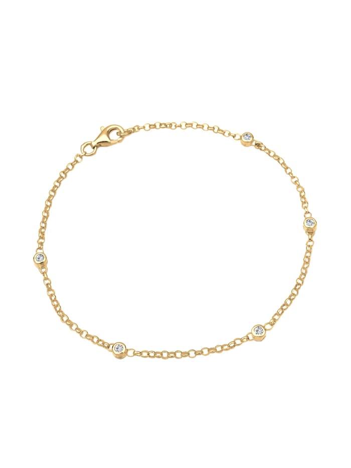 Armband Klassisch Kristalle 925 Sterling Silber