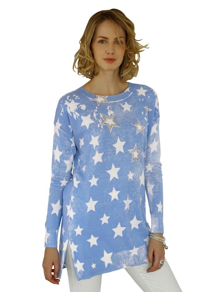 Tähtikuvioitu neulepusero