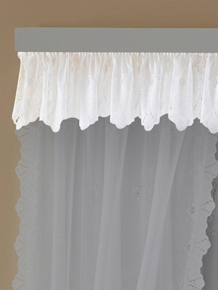 TAC Blumenfensterstore, blanc