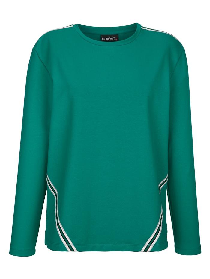 Sweatshirt met contrastkleurig ripsband
