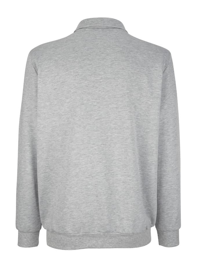 Sweatshirt met borduursel en print