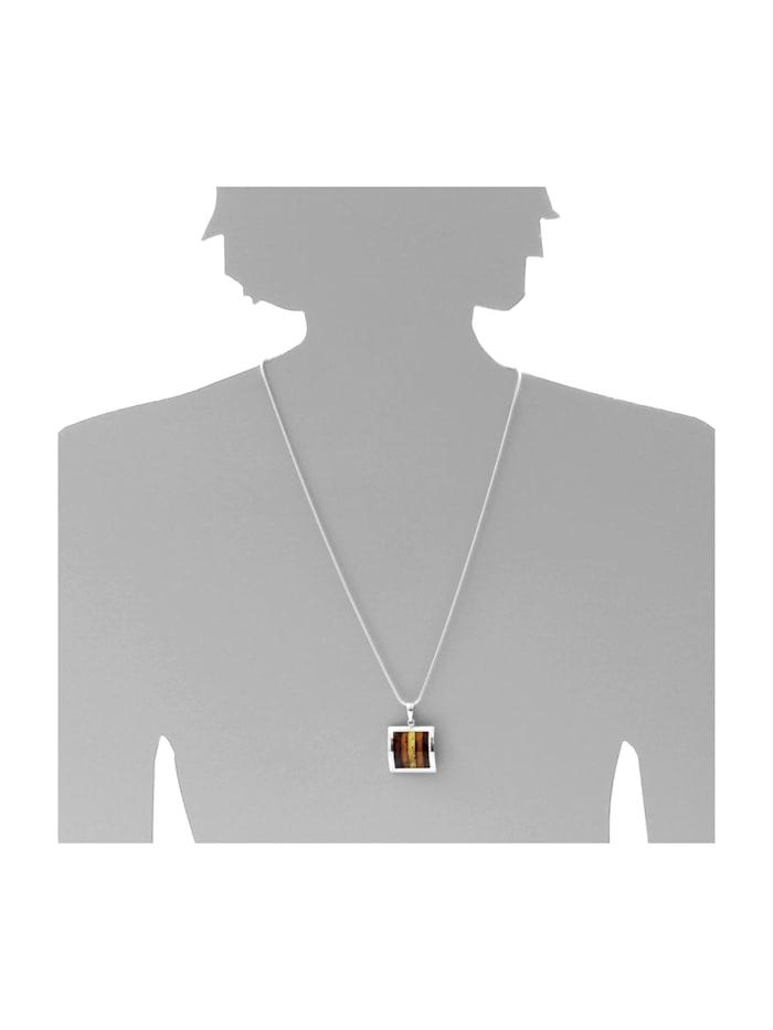 Kette mit Anhänger - Aike - Silber 925/000 - Bernstein