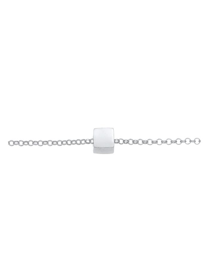 Halskette Choker Würfel Viereck Geo 925 Silber