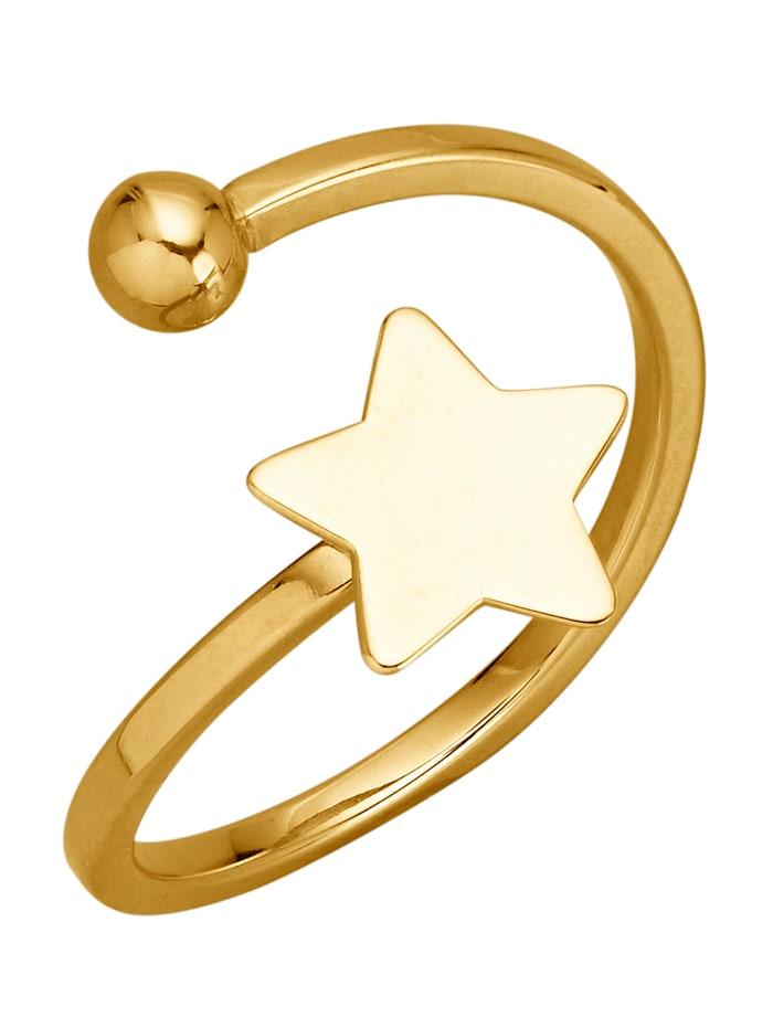 Stern-Ring in Gelbgold 375, Gelbgoldfarben
