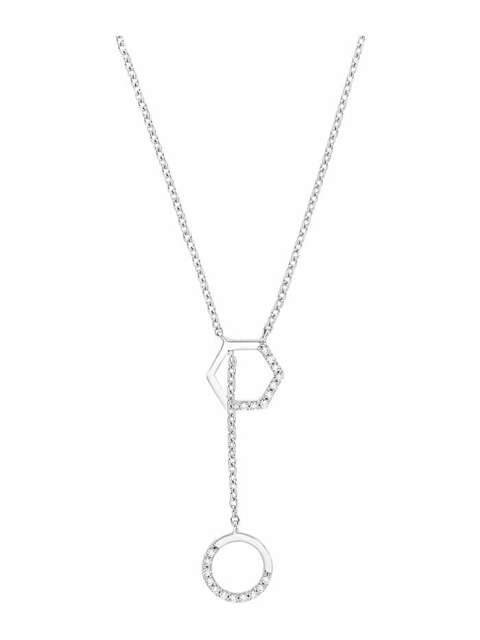 s.Oliver Halskette für Damen, 925 Sterling Silber   Hexagon, Silber
