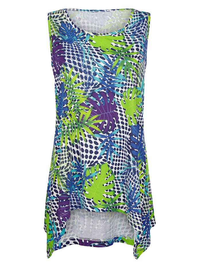 Maritim Strandshirt im angesagten Zipfel-Look, Türkis/Blau/Grün