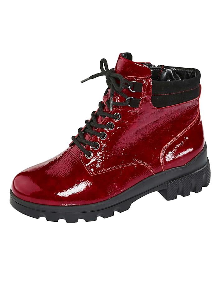 Waldläufer Schnürstiefelette mit leichter EVA-Laufsohle, Rot
