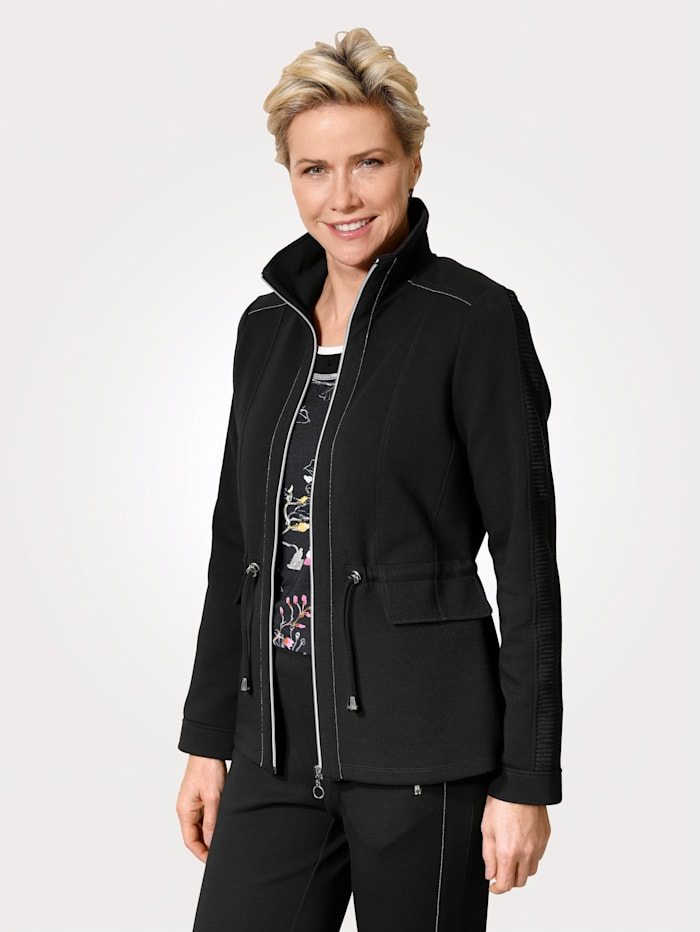 MONA Jacket with silver-tone detailing, Black