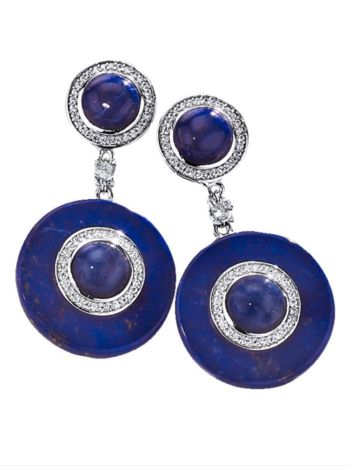 Diemer Farbstein Ohrringe im Farbsteinmix, Blau