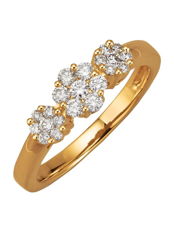 Amara Diamant Damenring mit Brillanten, Weiß
