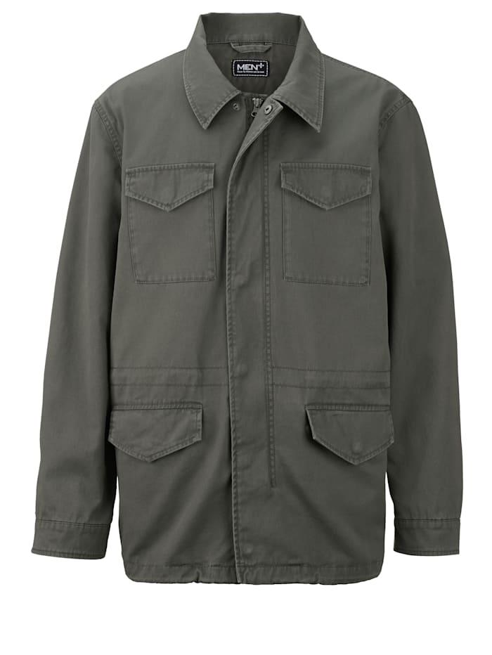 Men Plus Kauluksellinen takki, Oliivi