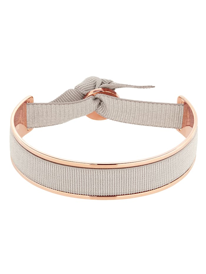 Les interchangeables Armband, Grau/Roségoldfarben