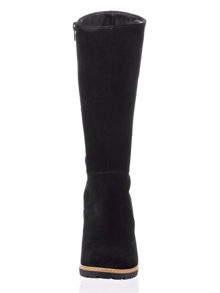 Stiefel aus Rindsveloursleder
