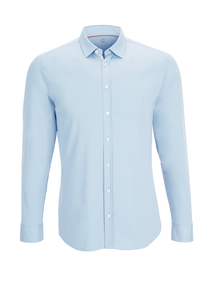 Desoto Jerseyhemd - Bügelfrei, light blue uni