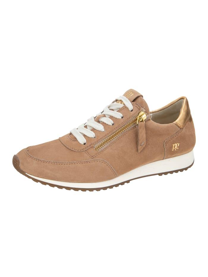 Paul Green Sneakers à technologie SUPER-Soft, Camel/Coloris or