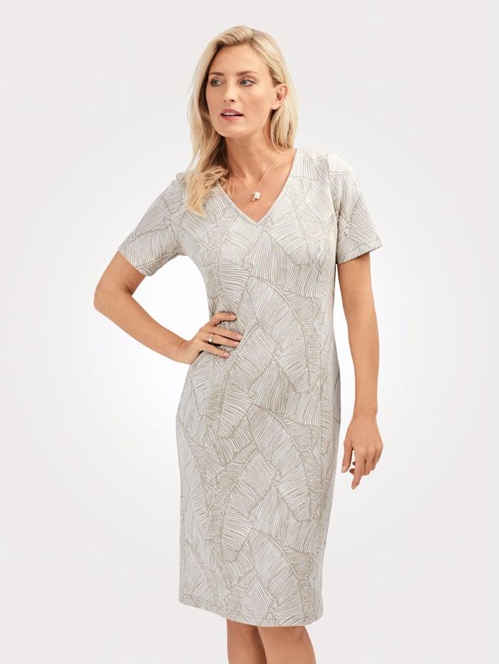 MONA Šaty s třpytivými vlákny, Ecru/Zlatá