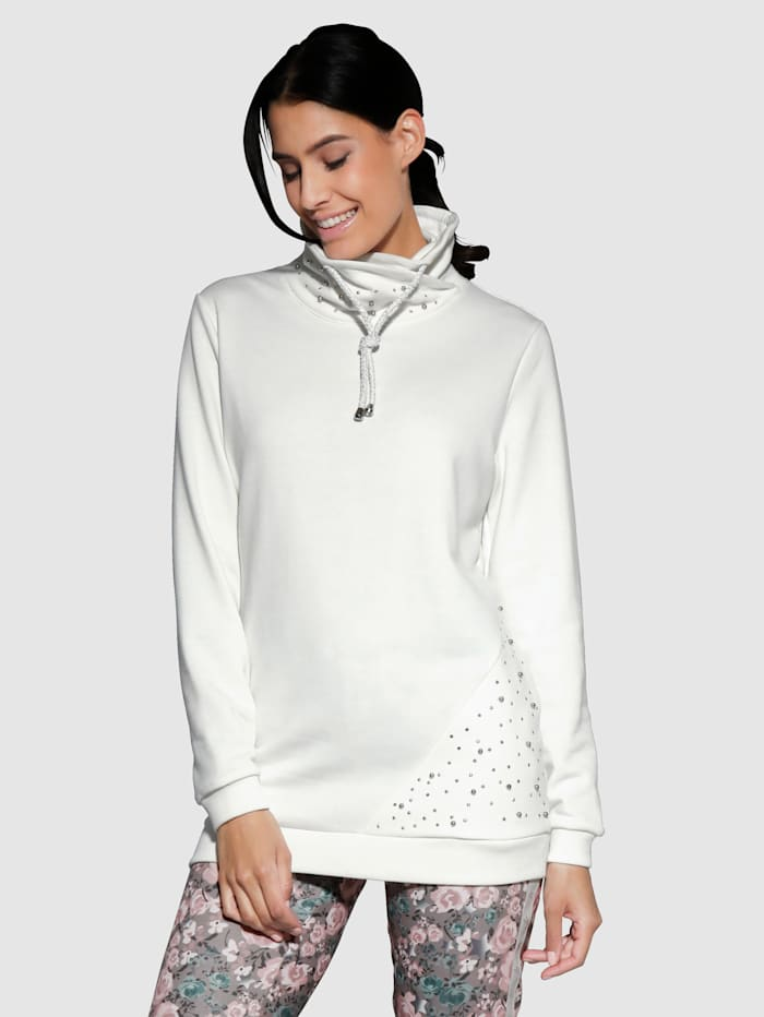 Laura Kent Sweatshirt in längerer Form, Wollweiß