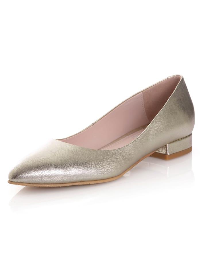 Alba Moda Ballerina im metallischen Look, Goldfarben