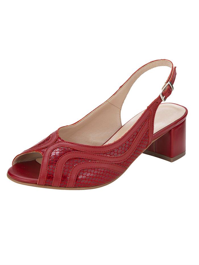 Naturläufer Sandale in klassischer Ausführung, Rot