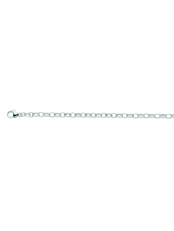 1001 Diamonds Damen Silberschmuck 925 Silber Weit Anker Halskette 80 cm Ø 3,1 mm, silber