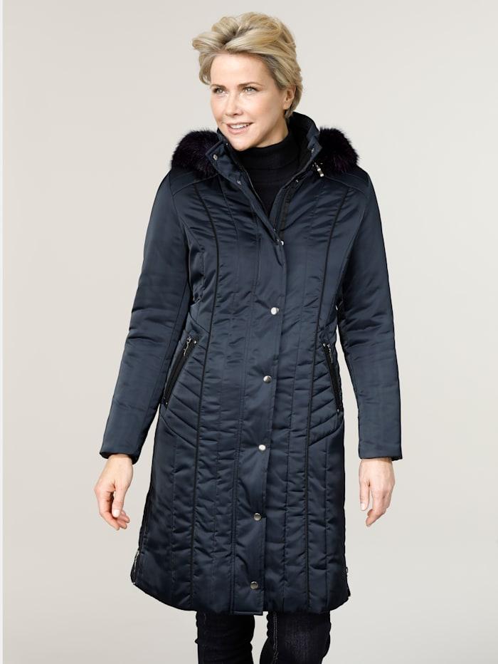 MONA Manteau à capuche amovible, Marine