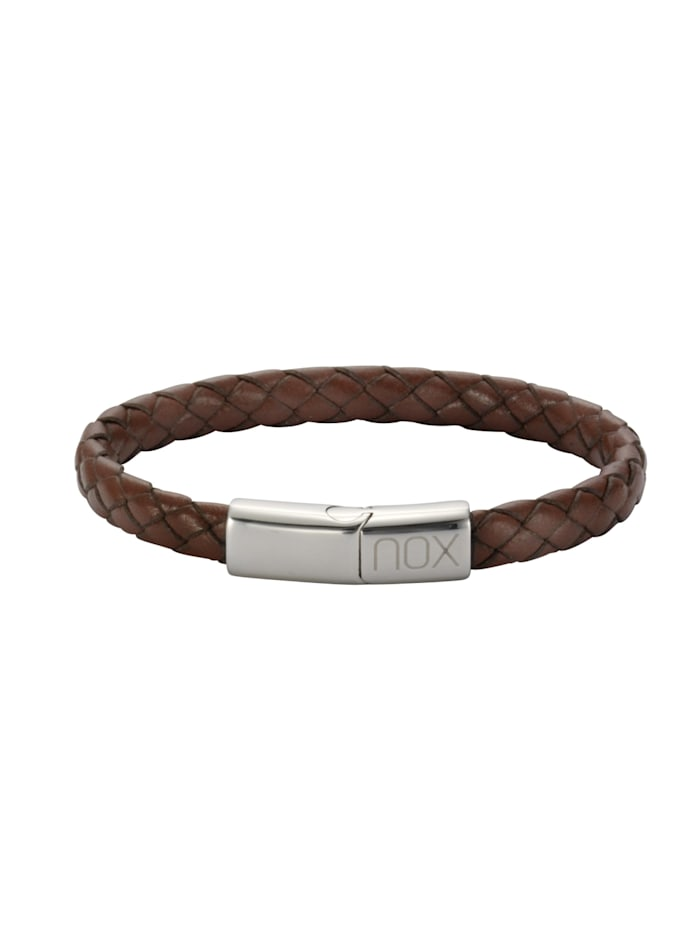 nox Armband Edelstahl 21,5cm Glänzend, hellbraun