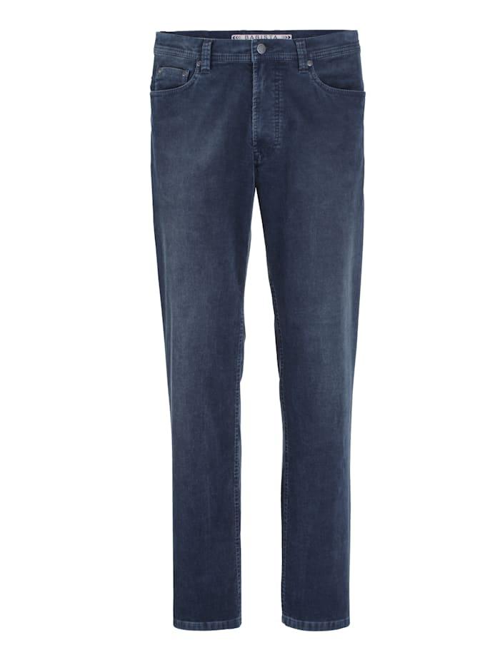 Babista Premium Pantalon en velours côtelé à effet usé, Marine