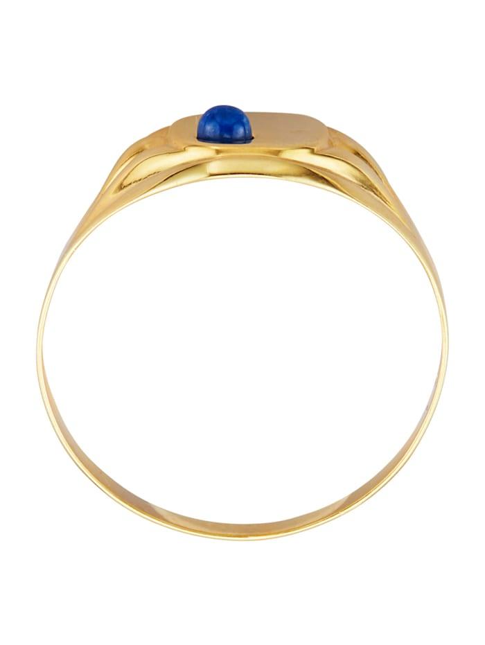 Klackring med lapis lazuli