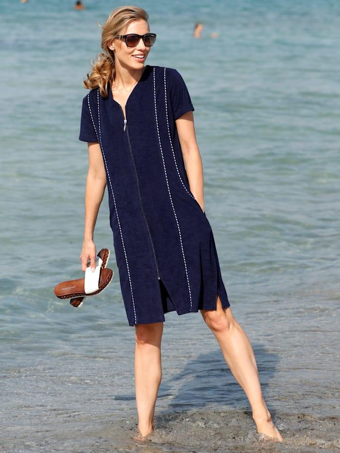 Maritim Strandkleid in trageangenehmer Frottier-Qualität, Marineblau