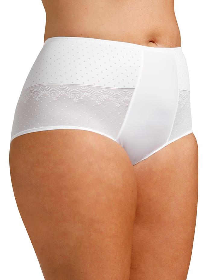 Rosme Slip mit leicht transparenter Spitze, Weiß