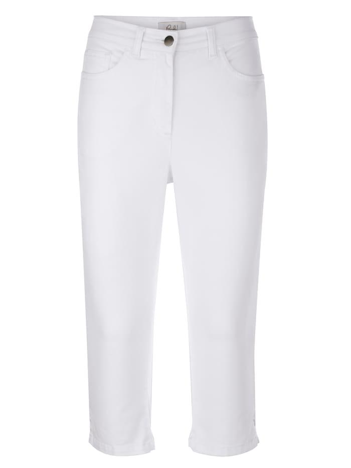 Capri nohavice s výšivkou tón-v-tóne