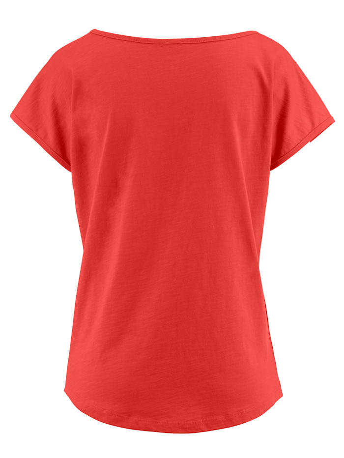 Shirt met glittersteentjes