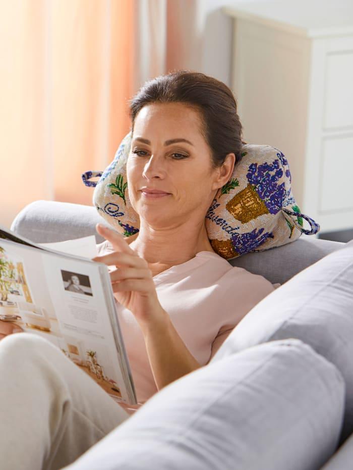 Vital Comfort Coussin de lecture/cale-nuque, Multicolore