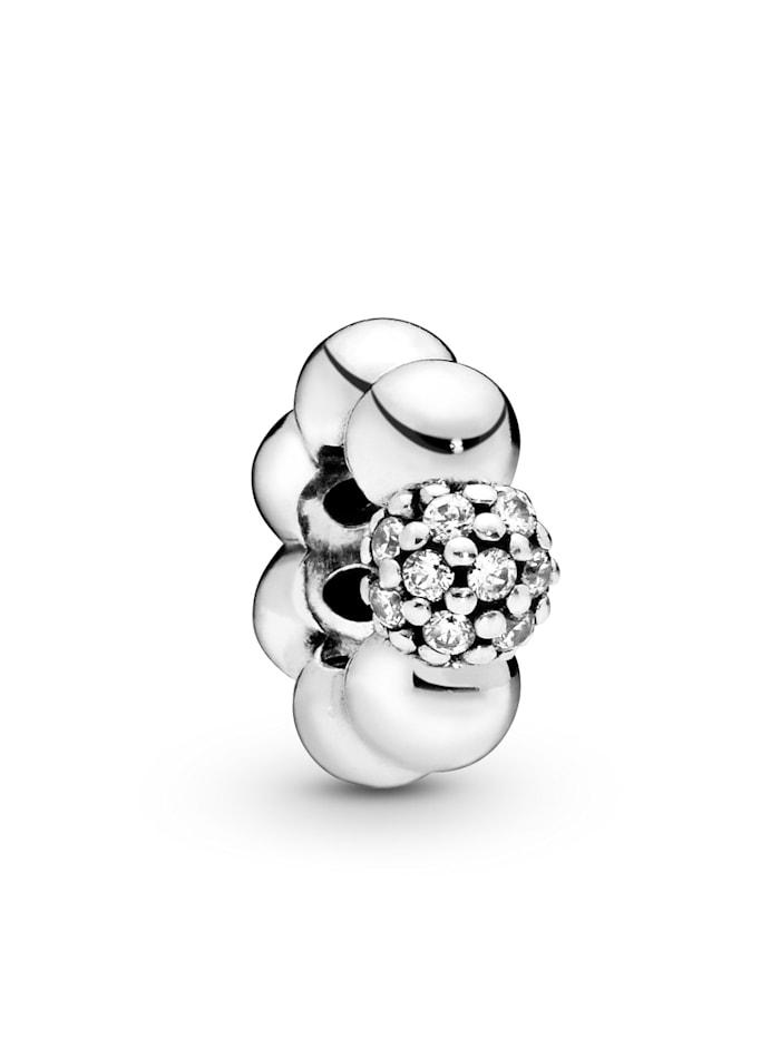 Pandora Charm -Pavé Perle- 798310CZ, Silberfarben