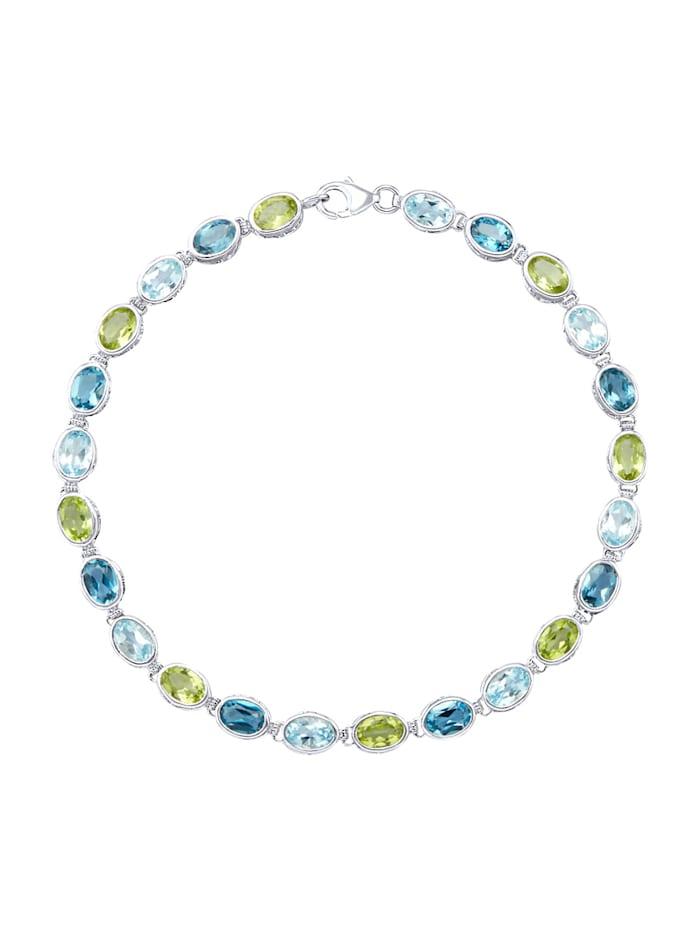 Diemer Highlights Armband mit Blautopasen, Multicolor