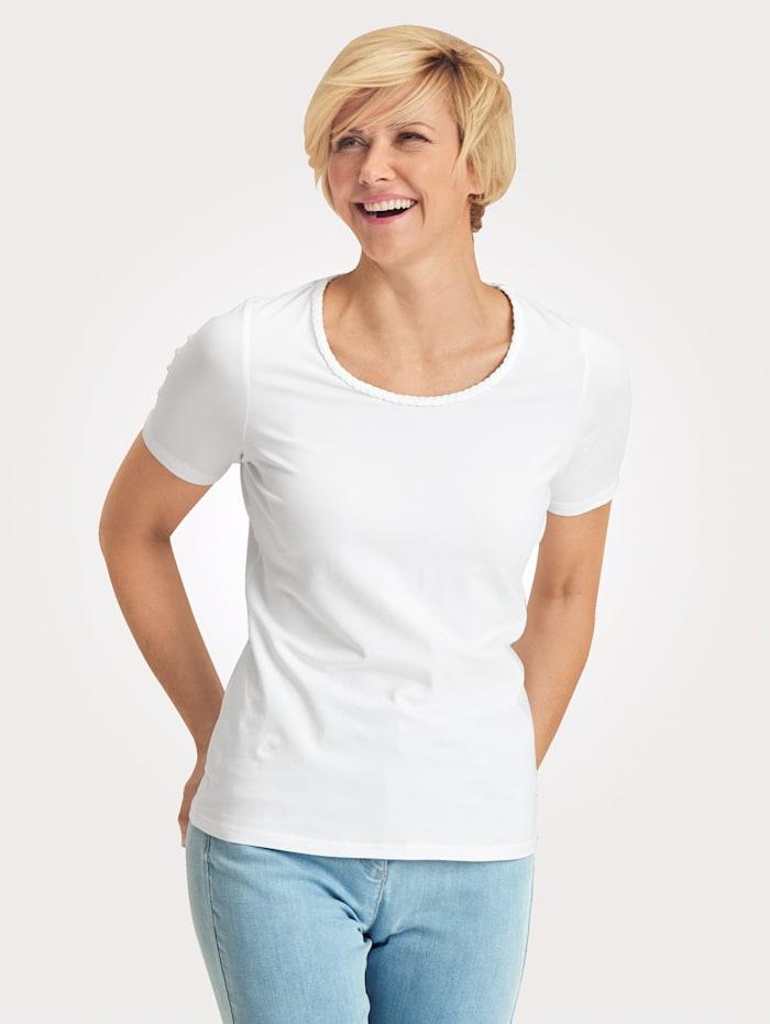 MONA Shirt mit Pima Baumwolle, Weiß