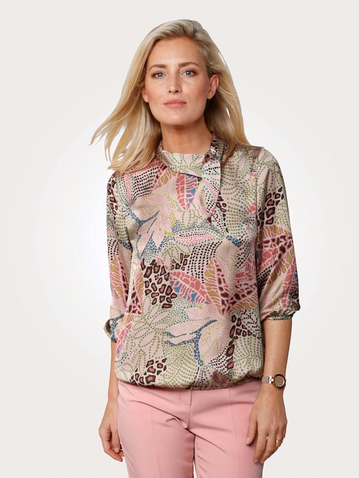 MONA Bluse mit floralem Muster, Rosé