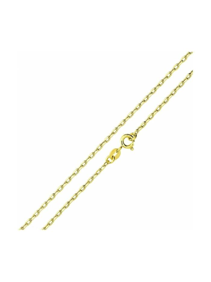 amor Halskette Unisex, Gold 375, Ankerkette 45 cm, Gold