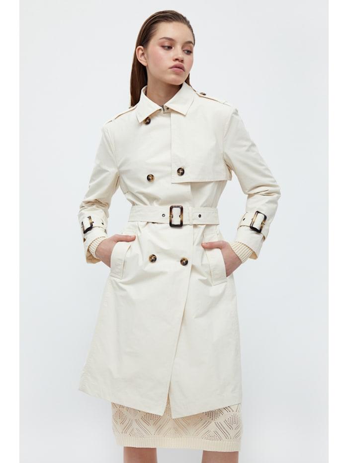 Finn Flare Klassischer Trenchcoat - mit praktischem Gürtel, beige