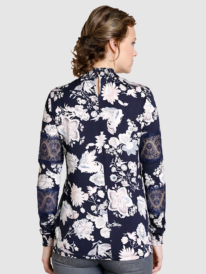 Shirt met modieuze bloemenprint