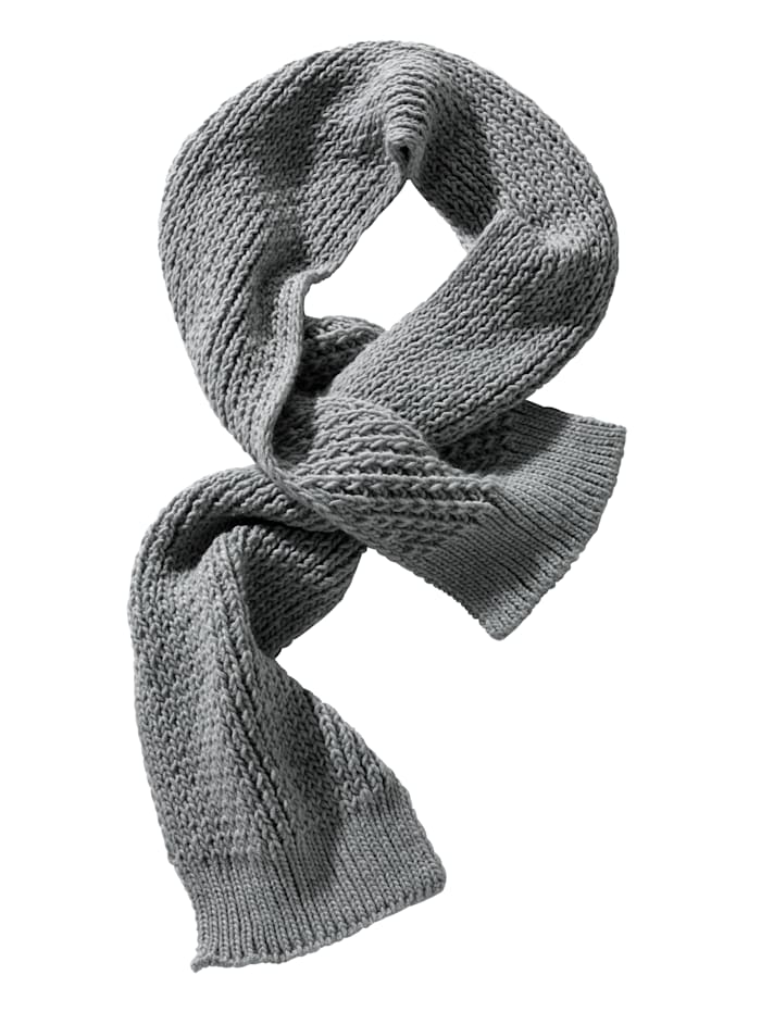 Faustmann Schal mit Schlitz zum Binden, grau