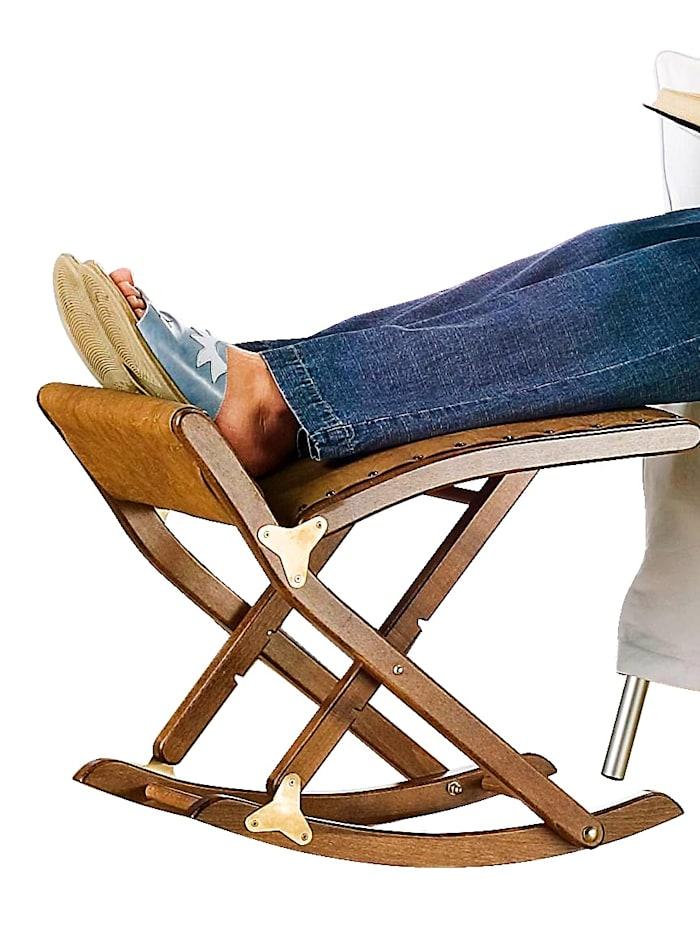 Maximex Reposoir-bascule de luxe pour les jambes, marron