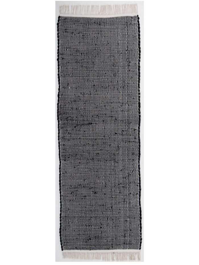 Tom Tailor Handwebteppich Cotton, Schwarz