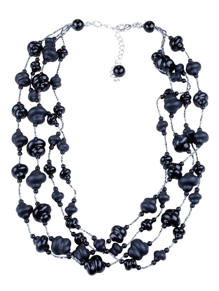 Collezione Alessandro Kurze Kette Cheyney mit vielen Perlen, schwarz
