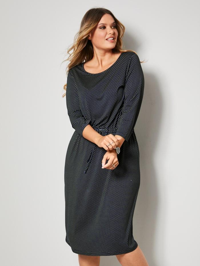 Jersey jurk met tunnelkoord in de taille