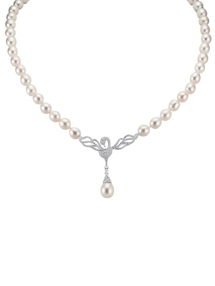 Amara Perles Collier à perles de culture d'eau douce, Blanc