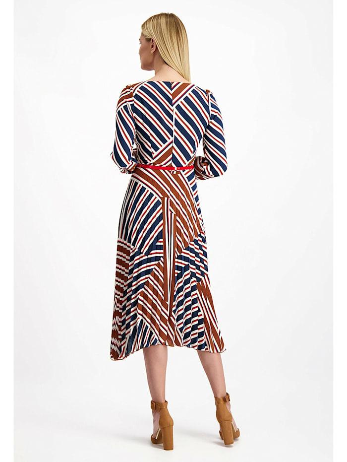 Kleid mit geometrischen Mustern