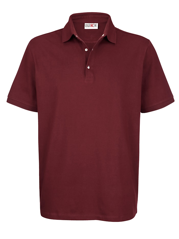 Roger Kent Poloshirt met drukknoopsluiting, Bordeaux