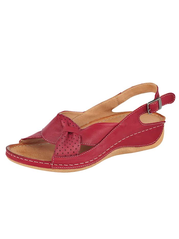 Naturläufer Sandale mit raffinierter Schlaufe, Rot